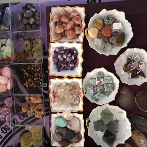 Image: a variety of small crystals